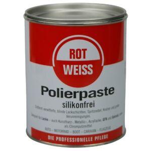 (26,60EUR/L) ROTWEISS Polierpaste Lackpolitur 750 ml