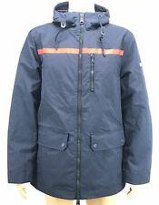 $295 Tommy Hilfiger Mens Blue Red Logo Coat Full Zip...