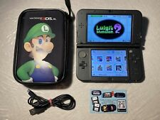 New Nintendo 3ds Xl Metallic Black Complete 80 Games 128 Giga With Ghost Shop