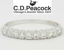 Vintage C.D. Peacock 0.3 ct Platinum 10 Stone Round Diamond Wedding Band / Ring