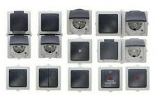 Kopp NAUTIC Feuchtraum grau Aufputz Schalter, Steckdose, Kombination