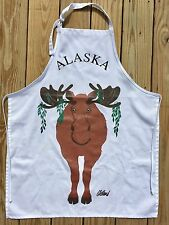 Oldland Hatley Moose Alaska Grilling Kitchen Dinner Apron Made Canada One Size