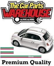 ⭐Graphic Stripe Fiat 500 Italian Flag Roof / Bonnet / Boot Sticker Decal Vinyl⭐
