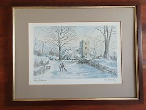 Snow in Grasmere by Colin Williamson. Signed print.