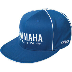 Factory Effex Yamaha Racing Flat Bill Flexfit Hat (Blue) L/XL