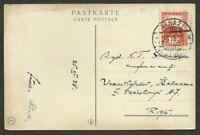 LATVIA AINAZI Cancel on Circulated Postcard 1938