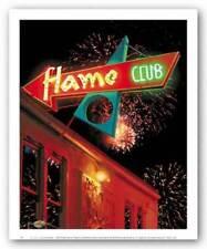 The Flame Club Larry Grossman Art Print 10x8