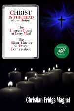 CHRIST IS THE HEAD OF THIS HOUSE- CHRISTIAN FRIDGE MAGNET-CHRISTIAN GIFT