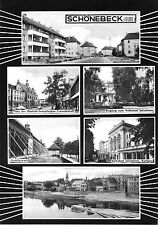 AK groß, Schönebeck Elbe, sechs Abb., 1966