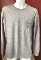 Superdry Men's Expedition Long Sleeve Top T Shirt Grey L Good condition