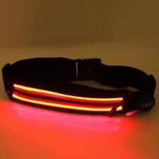Unisex Mujer Hombre LED Bolso de la cintura que ejecutan Pack kit de teléfono portátil cinturón Deportivo ligero