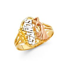 14K tricolor gold 15 year ring EJRG641