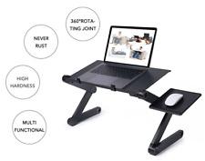 Ergonomic Laptop Table Stand Adjustable Folding Design Vented Fans Mouse Holder