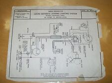 LUCAS SEPARATE  DYNAMO LIGHTING SYSTEM WIRING DIAGRAM  E3A E3AS DU42D DU142D
