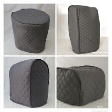 Dark Grey Quilted Double Faced Cotton Appliance Cover
