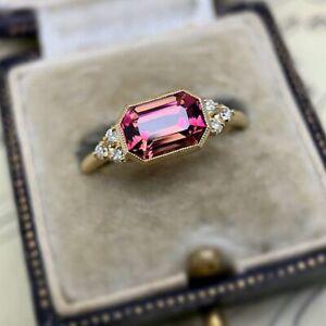 Elegant Women 925 Silver Rings Sapphire Multi-colors Topaz Wedding Gift Size 7