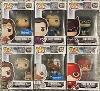 Funko Pop! Heroes, 2017 DC Justice League Lot of 6 Pops with Exclusives, NEW