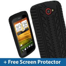 Black Silicone Tyre Skin for HTC One S Android Case Cover Holder Bumper 1