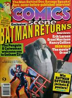 Comics Scene Magazine #28 August 1992 Batman Returns Penguin Catwoman No Label