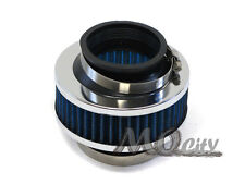 """2.75"""" 70mm Flange Cold Long Ram Air Intake Kit Bypass By Pass Valve Filter BLUE"""