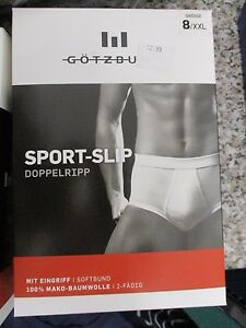 GÖTZBURG - 6420110 - Sport- Slip / Unterhose, Weiß,  Gr. 8 / XXL NEU