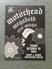Motorhead Concert Poster BGP6 1986 Original Rare Megadeth