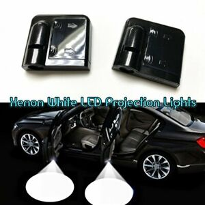 2x Wireless Ghost Shadow Projector LED Door Step Courtesy Welcome Light For Fiat