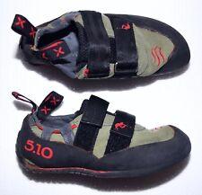 New Five Ten 5.10 C4 Rock Climbing Shoes Suede Velcro Tab Us Men'S 6 / Eu 38