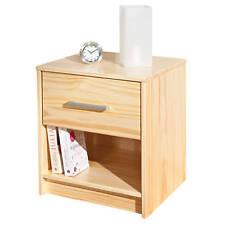 Nachtkommode Kiefer Schlafzimmerkommode Schlafzimmerschrank 1 Schublade weiß
