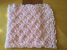 NEW Handmade Crochet Baby Blanket Afghan girl, boy (Baby Pink)