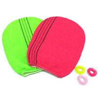 1/2 colors Korean Italy Exfoliating Body-Scrub Glove Towel Green Red EL