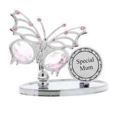 Ladies Regalo Speciale Mamma Farfalla Placca Insegna in scatola regalo di elementi Swarovski