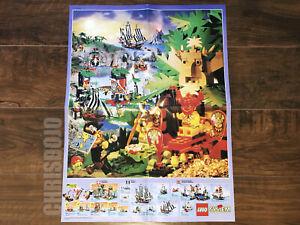 Vintage LEGO System Pirates and Islanders Poster Brochure Pamphlet 1994