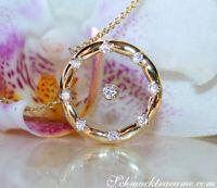 Wundervolle Brillanten Halskette mit Saphirglas | 0,16 ct. TW SI | Gelbgold 750