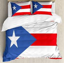 Puerto Rico Juego de Funda Nórdica Bandera con las rayas de la estrella