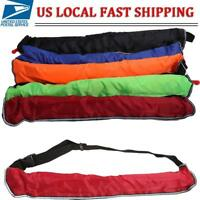 Manual Inflatable Paddle-board Belt Pack Life Jacket PFD + Whistle
