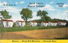 1946 Art & Anna's Tourist Cottages, Artanna, Ohio Postcard Sized Ad Card