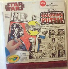 Star Wars Coloring Puzzle Hallmark Crayola New 12 pieces