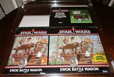 Vintage Star Wars AFA 80 Ewok Battle Wagon Boxflat 1985 Kenner POTF Box Flat