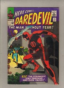 """DAREDEVIL #10_OCTOBER 1965_FINE+_""""WHILE THE CITY SLEEPS""""_SILVER AGE MARVEL!"""