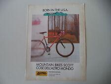 advertising Pubblicità 1989 MOUNTAIN BIKE SCOTT