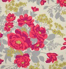 1 Yard Home Decor Free Spirit J Dewberry Flora Rose Bouquet - Poppy - SAJD029