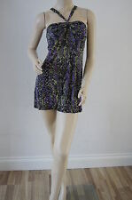 TOPSHOP Summer Holiday Snakeskin Bandeau Tunic Dress Top Tops Size 14 NEW PC11