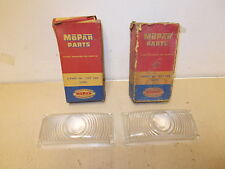 Mopar NOS Park Lamp Lenses 49 Plymouth