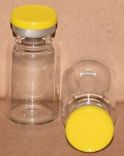 10 mL BB Clear Sterile Vial with Yellow Plain Flip Top Seal Qty. 25