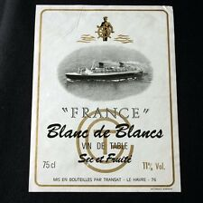 """CGT FRENCH LINE SS """"France"""" White Wine Label"""