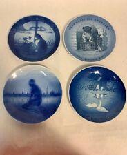 Lot of 4 Vintage Copenhagen Denmark Porcelain Plates Christmas Fairy Tale