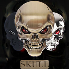 1 Pcs New Zinc Alloy Devil Skull Car 3D Stickers Decals (Gold).