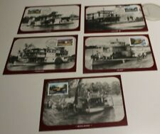 2005 MURRAY RIVER SHIPPING STAMP MAXI CARDS SET OF 5