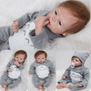 """20"""" Reborn Doll Vinyl Soft Silicone Realistic Real Life Boy Baby Toddler Gift UK"""